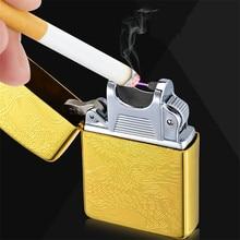 Gold Dragon USB Electronic Lighter Windproof Cigarette ARC Plasma Lighter Torch Lighter Christmas Gift Smoking Gadgets for Men