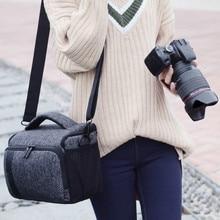 DSLR Camera Bag Shoulder Case For Nikon P1000 D7200 D7100 P900 D5300 D3400 Canon 1300D 5D3 5D4 1100D 750D Waterproof Photo Bag