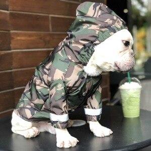 Image 1 - Cão de estimação roupas de capa de chuva para cães grandes camuflagem à prova dwaterproof água roupas chovendo casaco de chuva ao ar livre trajes buldogue francês