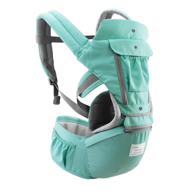 AIEBAO Breathable Ergonomic Baby Carrier Backpack Portable Infant Baby Carrier Kangaroo Hipseat Heaps Baby Sling Carrier Wrap 2