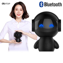 DOITOP Mini Cute Robot Wireless Bluetooth Speaker Power Bank TF Card Hand free Call Micro Bass