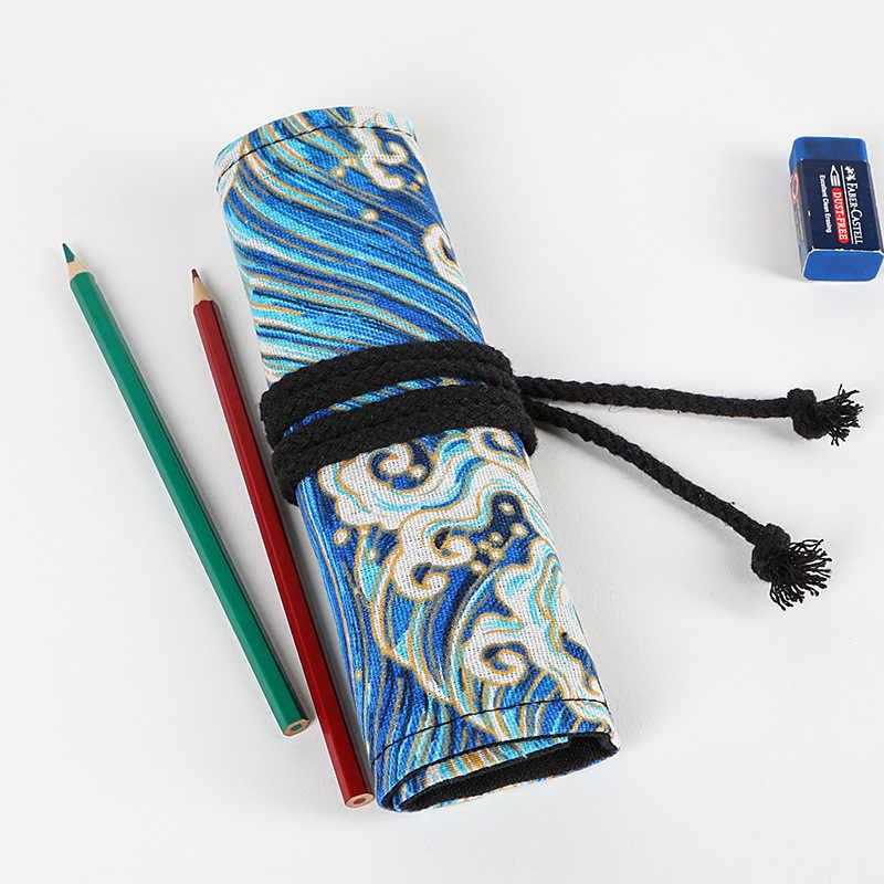 Kawaii โรงเรียน ROLL ดินสอสำหรับหญิง Pencilcase ผ้าใบ Penal ปากกากระเป๋า 12/24/36/48/72 Penalties Penalties กล่อง Supplie