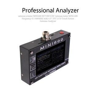 """Image 2 - アンテナカウンター MINI600 HF/VHF/UHF アンテナテスターミニ 600 周波数 0.1 600 4.3 """"TFT 液晶タッチスクリーンアンテナ · アナライザ"""