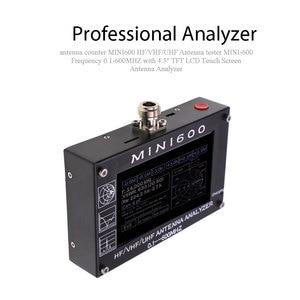 "Image 2 - 안테나 카운터 mini600 hf/vhf/uhf 안테나 테스터 미니 600 주파수 0.1 600 mhz 4.3 ""tft lcd 터치 스크린 안테나 분석기"