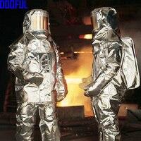Новый 1000 серии Алюминированная спасения самолета пожаротушения подход костюм Bunker пожарный равномерное близость Термальность излучения