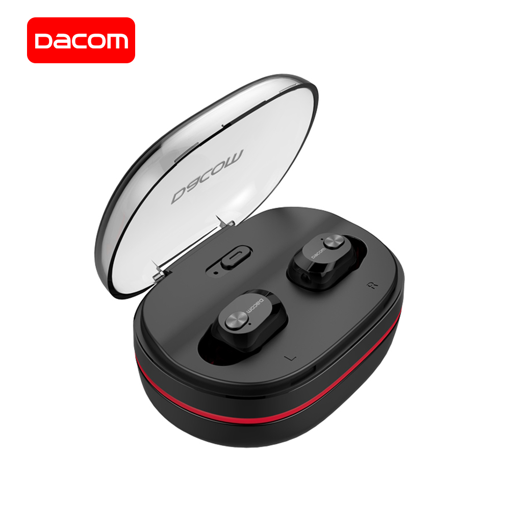 DACOM K6H Bluetooth Earphones with Mic True Wireless Stereo Earbuds In-ear Earpiece with Charging Box for iPhone Samsung Xiaomi