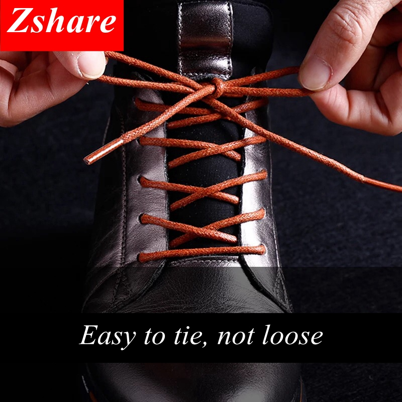 1Pair / round shoelaces classic high quality waxed cotton waterproof shoe laces outdoor leisure leather sport shoe laces1Pair / round shoelaces classic high quality waxed cotton waterproof shoe laces outdoor leisure leather sport shoe laces
