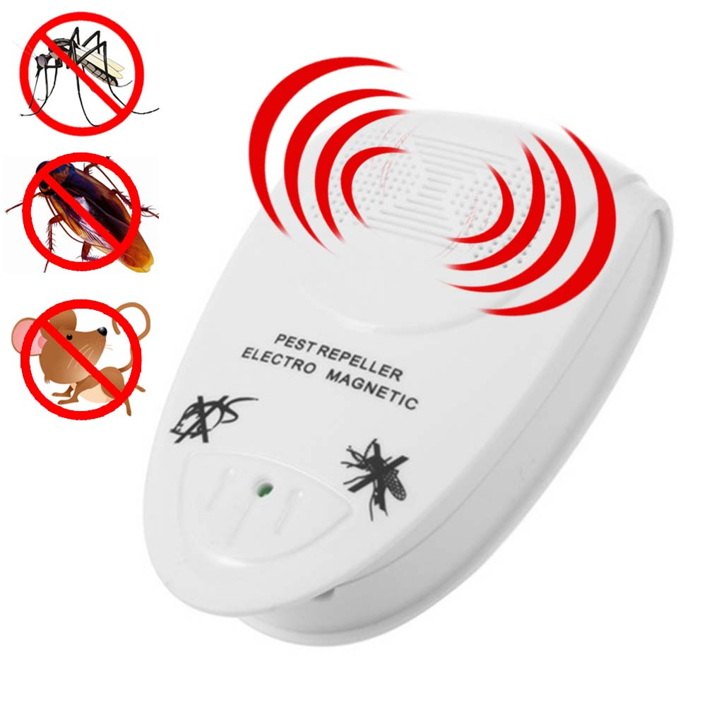 Pest Control Electronic Ultrasonic Rat Mouse Repellent Anti Mosquito Repeller Killer Rodent Pest Bug Mole Reject 2018ing