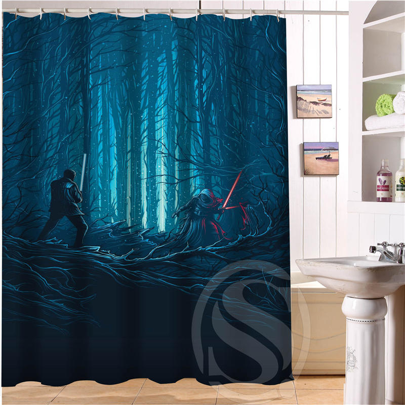 Custom Star Wars Shower Curtain Bathroom Decor Waterproof Free Shipping SQ0516 In Curtains From Home Garden On Aliexpress