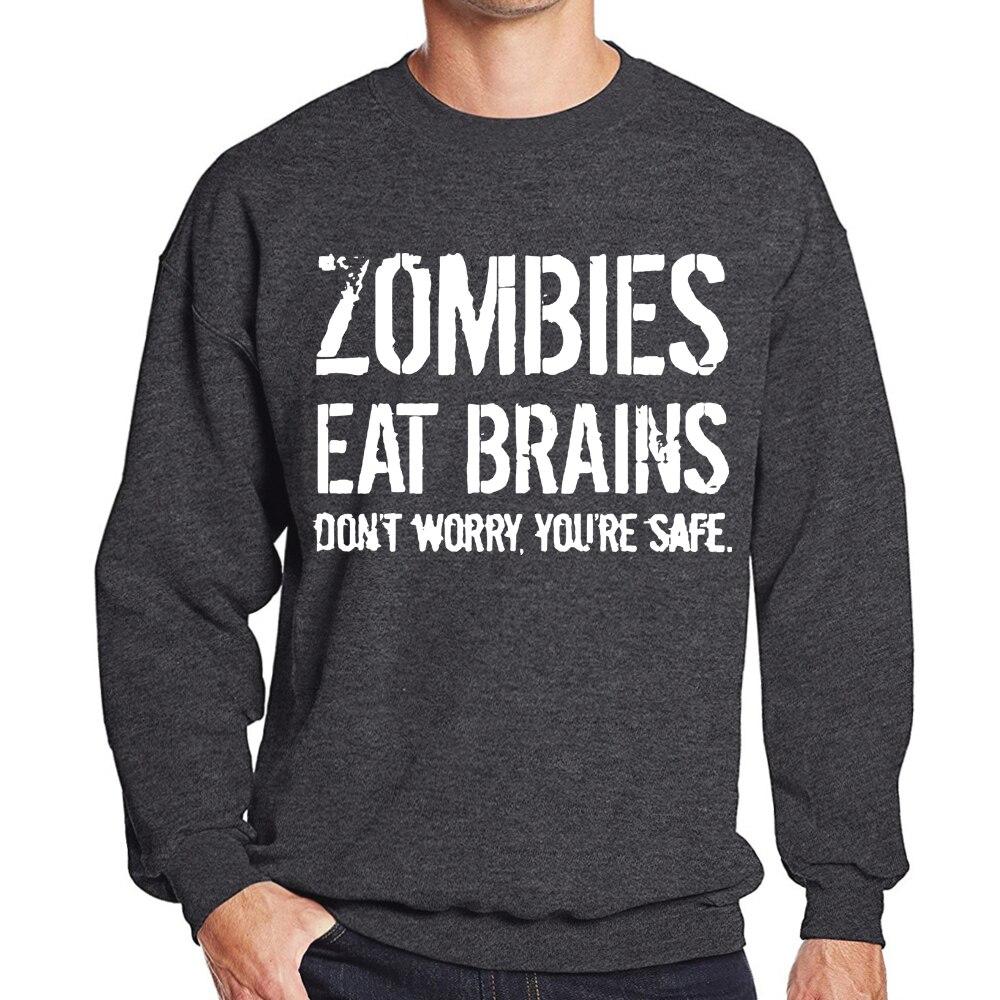 Bodybuilding Hoody Tracksuits 2019 Auutmn Winter Sweatshirts Zombies Eat Brains Brand Clothes Men Casual Fleece Hip-hop Hoodies