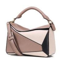 Роскошные сумки Для женщин сумки дизайнера вдохновили высокого Qyality из натуральной кожи Лоскутная сумка 2018