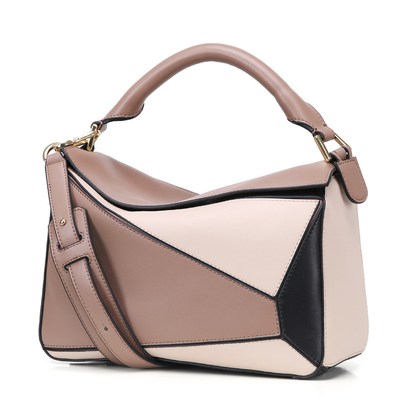 Luxury Handbag Women Bags Designer Inspired High Qyality Genuine Leather Patchwork Shoulder Bag 2018