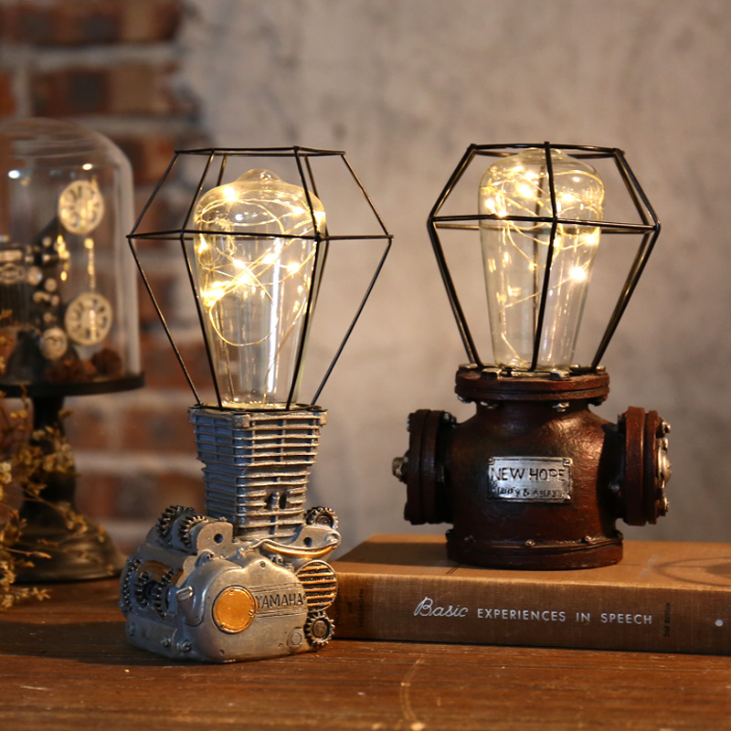 American industrial wind desk lamps night light Bar Cafe Restaurant decor decoration clothing shop window lamps ZA114432 vintage industrial wind cafe internet cafe restaurant nordic individuality clothing shop window bar deck chandelier