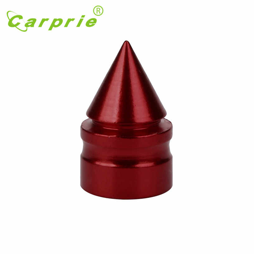 2019  Hot Selling Red 4x Aluminum Bullet  Car Truck Air Port Cover Tire Cone Rim Valve Wheel Stem Caps Gift Jul 28