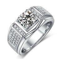 Choucong Пасьянс ювелирные изделия Для мужчин белый камень 5A камень циркон 10kt белый Золотое покрытие Обручение Обручальное кольцо Sz 7 13 подарок