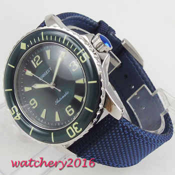 Corgeut Automatic Diver Watch Super Luminous Miyota Metal Mechanical Watches Green Dial Top Brand Best Cheap Sale - DISCOUNT ITEM  16% OFF Watches