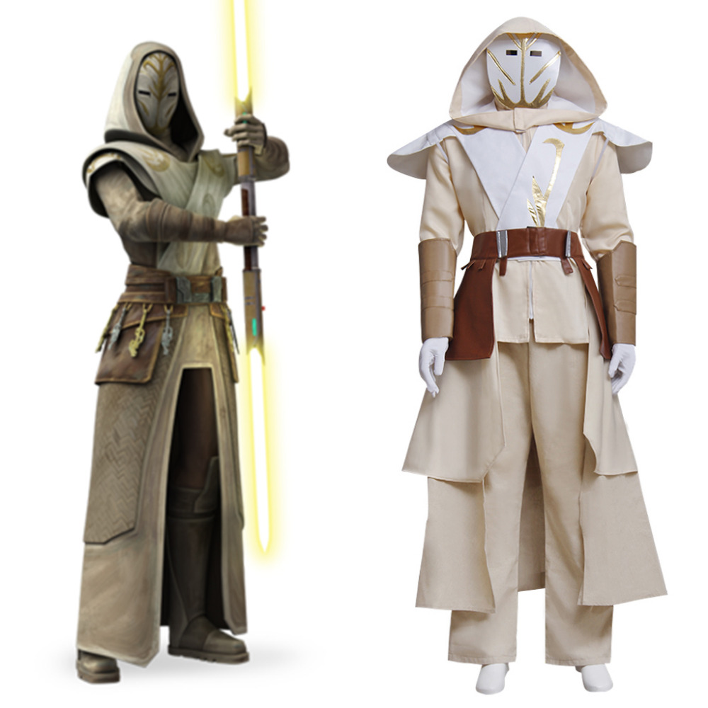Star Wars Cosplay Star Wars Clone Wars Jedi Temple Garde Cosplay Costume Adulte homme Halloween Carnaval Costume Cosplay