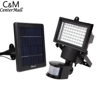 60 Led Floodlights Solar Lighting Outdoor Spotlights Spot Flood Lamp Garden Light Exterior Projector Waterproof