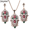 New Luxury Imitation Vintage Jewelry Sets For Women Bridal Wedding Jewelry Indian Ethnic Turkish Engagement  Wedding Accessories