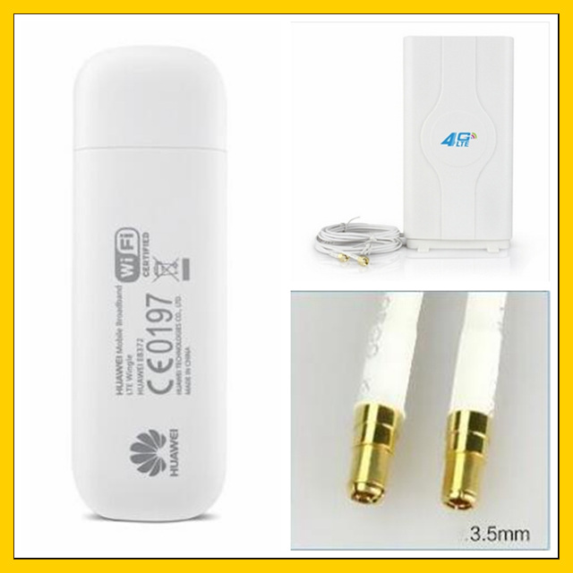 E8372 150Mbps 4G LTE Wifi Modem E8372h-153 + 4G Signal Amplifier Antenna I Double TS9 Connector