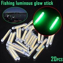Недавно 20шт Рыбалка флуоресцентный Lightstick плавающие светящиеся палочки для ночной рыбалки 19ing