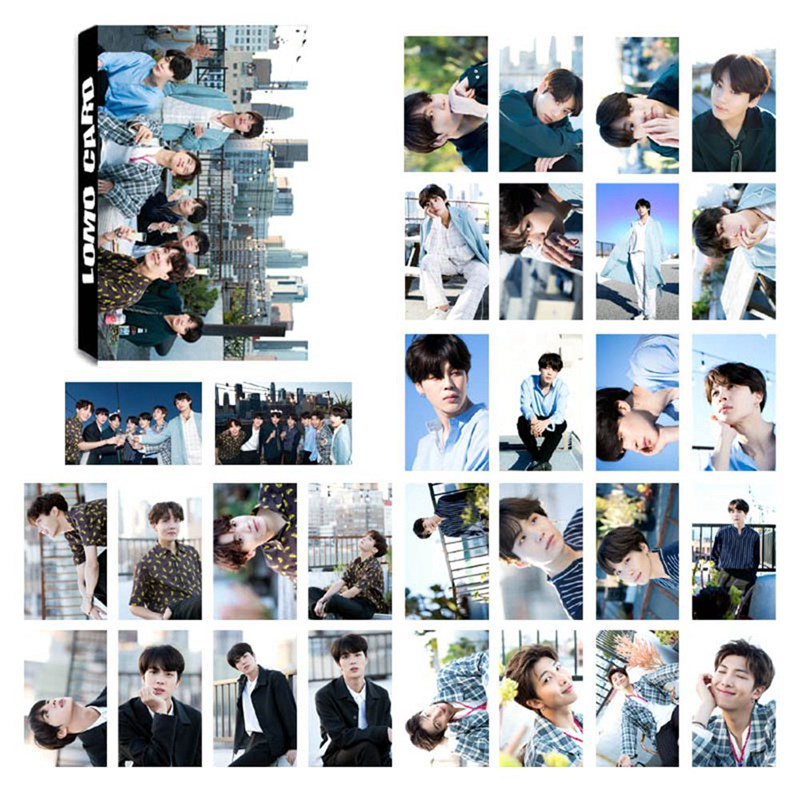 Kpop Bts 5th Anniversary Paper Lomo Cards Jimin V Suga Collective Photocard Poster Self Made Paper Photo Card 30pcs/set