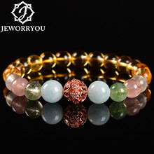 8mm Citrine Natural Crystal bracelets stone beads nice gift for ladies Friends lover Creative jewelry