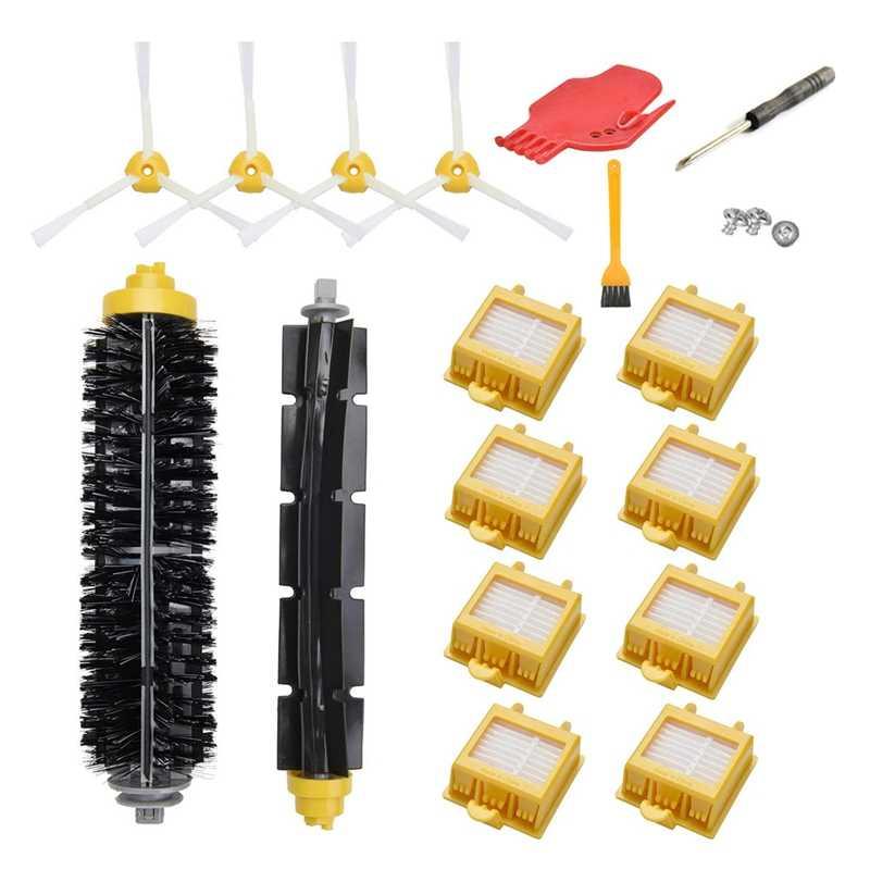 Reemplazo de Kit de accesorios para Irobot Roomba 700 Series 790, 780, 770, 760 de 8 filtros 4 pinceles laterales, 1 paquete Bri