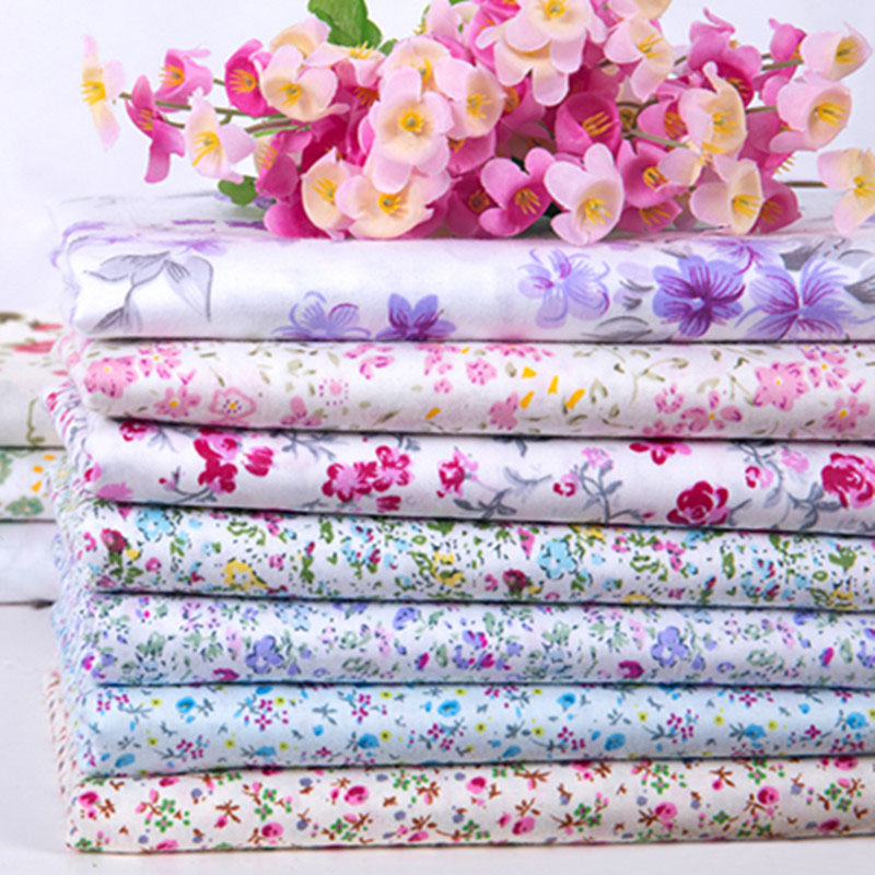 Flower printed 100 cotton fabrics for sewing soft baby for Fabric material for sale