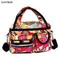 2016 Women Summer Floral Waterproof Beach Bag Nylon Crossbady Bag Storage Organizer Multi Pockets Small Hipster Shoulder Bag