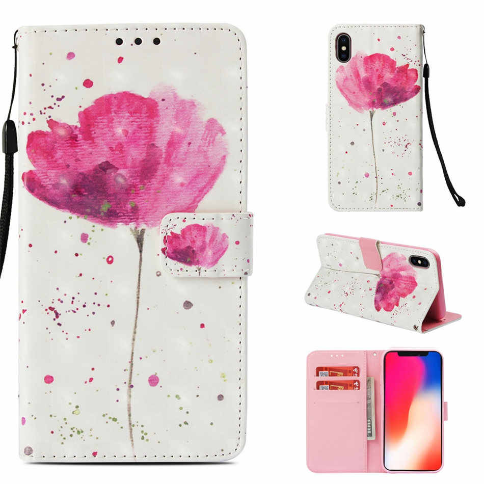 Чехлы-бумажники с отделениями для Xiaomi F1 8 A2 Lite A1 5X Redmi 4A Note 7 S2 Y2 5 Pro Plus 4 4X 5A с изображением милых пони бабочка чехлы для телефонов с призраками E03Z
