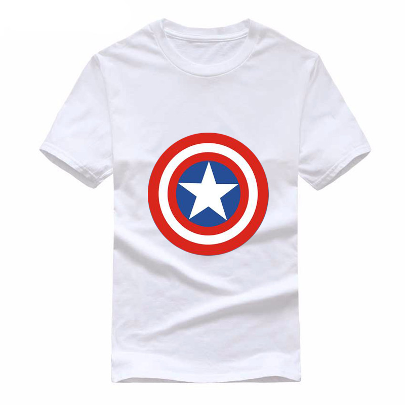 0b71a5be025ef Comic LOGO Super Hero T Shirt Superman Batman Captain America the Flash  Marvel Movie Men Cosplay