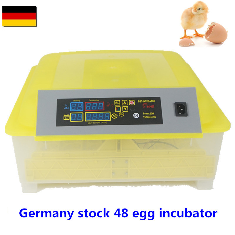 EU/US Mini 48 Egg Incubator Poultry   Brooder Digital Temperature  Hatchery Chicken Duck Bird Pigeon eu committees