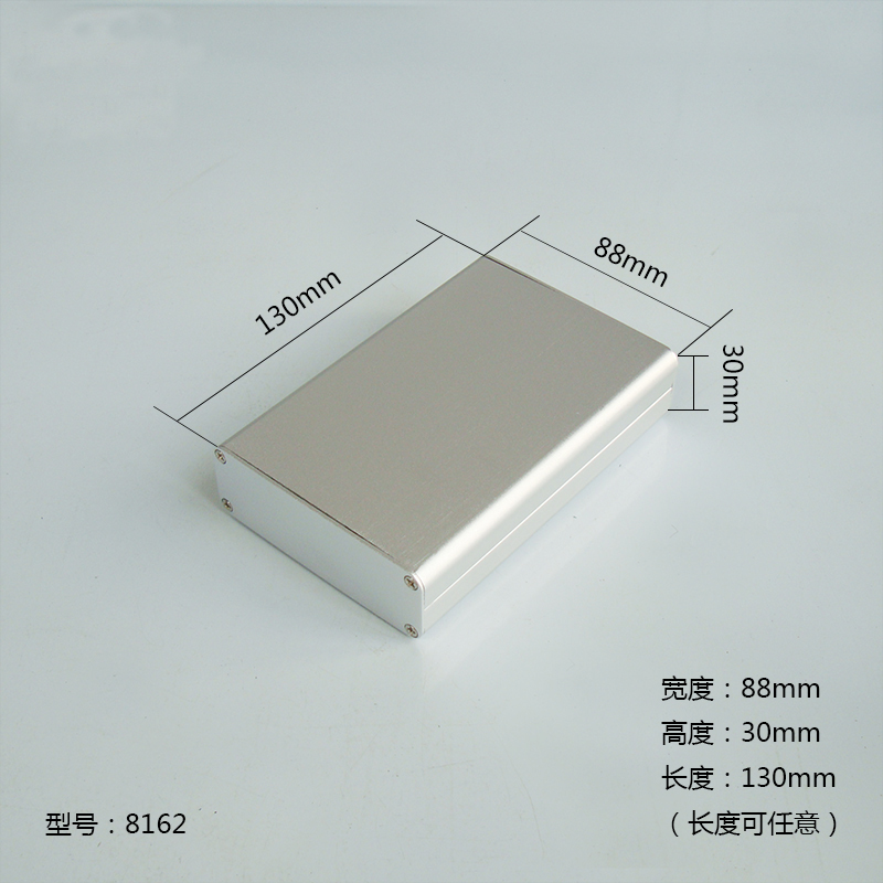 1pc Silver Aluminium Enclosure Case  Mini Electronic Project Box 130x88x30mm 8162 10pcs lot anodizing aluminium instrument case for electronic wall mounted metal enclosure 33 114 150mm