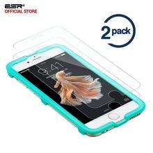 Película de vidrio para el iphone 7 s/7 s Plus, ESR [2 Pack] 5X Más Fuerte Protector de Pantalla de Cristal Templado Aplicador para iphone7s 7 7 s Plus