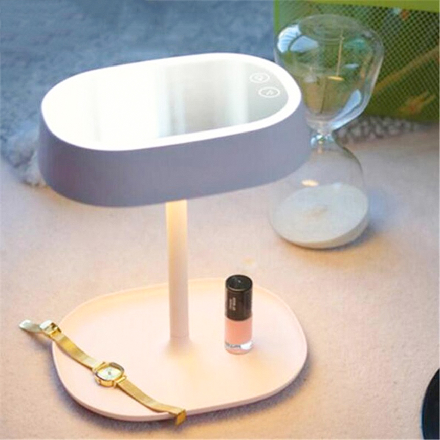 Creative Rechargeable LED Lamp Makeup Mirror Night Lights Mirror Lamp Smart  Home lights Table Lamp for Birthday Christmas Gift in Night Lights from  Lights. Creative Rechargeable LED Lamp Makeup Mirror Night Lights Mirror