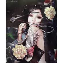Chinese style beauty diamond Embroidery diy painting mosaic diamant 3d cross stitch pictures H489