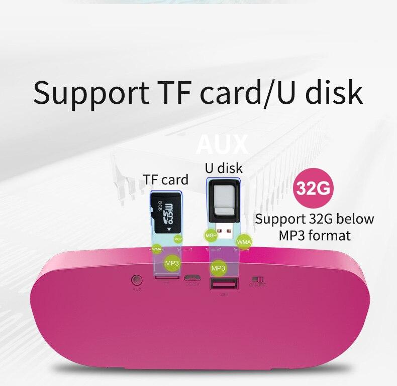 Zealot S9 HiFi Mini Bluetooth Speaker Portable Party Music Box Column Wireless Speaker Support TF Card,Aux, USB Flash Drive 4