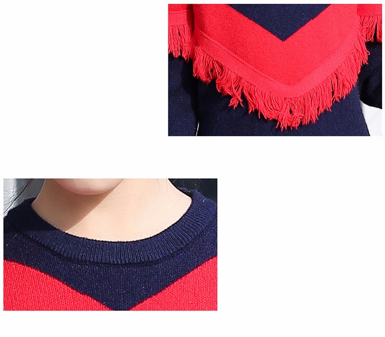2017 new knitting tassels girls sweater spring autumn winter casual children school clothing preppy style knitted kids sweaters girls dresses 6 7 8 9 10 11 12 13 14 15 16 years old little teenage big girls long sweater dress (19)
