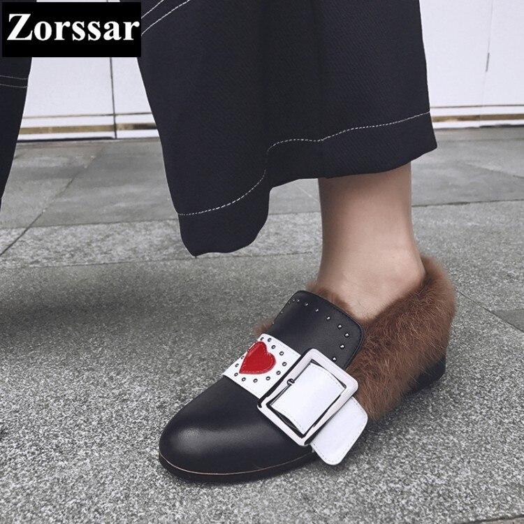 De Invierno Planos Lujo Mujer Nueva Tacón {zorssar} Negro Moda Casuales Zapatos Puntiagudo Marca Dedo 2017 Del blanco Pie Plano qw1RnxZft