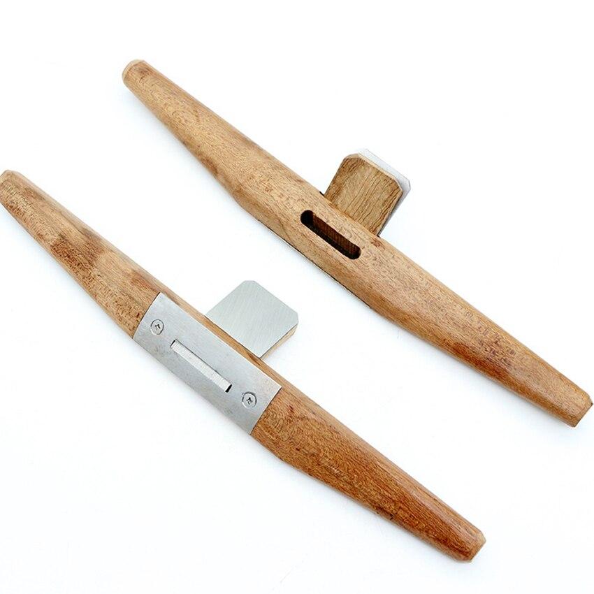 Woodworking Wooden Slotted Plane DIY Carpenter Planer Sharpening Planing Manual Trimming Tool For Deburring Edge/corner Of Arc