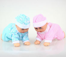 Funny Electric Crawling Music Baby Doll Crawl Learning Cute Toys Educational Speaking Dolls Birthday Gift FSOWB