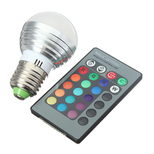 E27 Bombilla LED 16 Colores Cambian 3 W 5 W 7 W 110 V 220 V 230 V magia RGB LED Lámpara de Luz Bombilla RGB 24key IR Remote Control Lampada