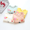 Girls T shirts 2016 new autumn  Baby Girls clothes Bobo choses kids long sleeve t shirts  letters pairs children clothing