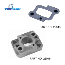 HSP RACING RC CAR PART NO. 25045 AIR INLET PAD AND 25046 CARBURETOR MANIFOLD INTAKE FOR 1/5 GAS TRUCK 94050