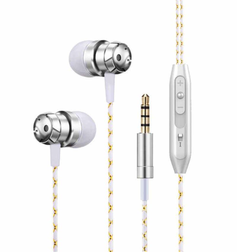 Rose gold przewodowe słuchawki bass podwójny napęd Stereo HiFi słuchawki douszne słuchawki z mikrofonem komputera słuchawki douszne do iPhone'a Xiaomi Sport