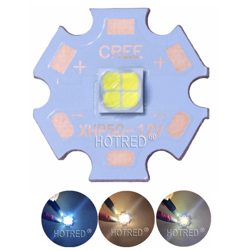CREE XHP50 6500K Cool White 5000K Neutral White LED Diode Emitter 6V 12V with 16mm 20mm Copper PCB 200w 6500k 16000lm led emitter cool white light plate dc30 36v