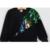 Humor Urso Meninas Conjuntos de Roupas de Inverno de Lã Sportswear Manga Comprida pavão Rosa Bordado Floral Sequinsets Crianças Conjuntos de Roupas