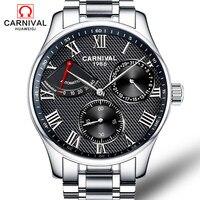 Suíça carnaval marca de luxo masculino relógios automático auto vento relógio masculino safira reloj hombre relogio relógio C8773G 2|Relógios mecânicos| |  -