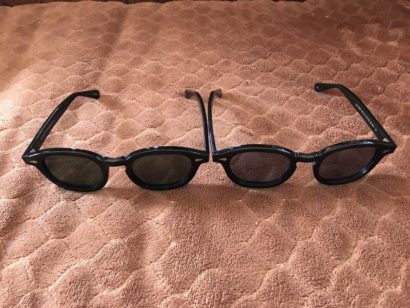 MEIBAI Johnny Depp Round Sunglasses Polarized Men Women Lemtosh Acetate Vintage Sun Glasses With Polariz Lens